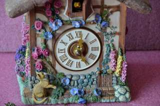 RARE FRANKLIN MINT COUNTRY COTTAGE GERMAN CUCKOO CLOCK