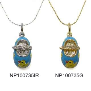 more views darling enamel baby shoes charm pendants drop necklace a