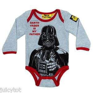 NEW STAR WARS Darth Vader Baby Boys Bodysuit BNWT Fabric Flavours vest
