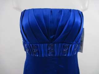 NWT BADGLEY MISCHKA Blue Strapless Long Dress Sz 6 $895