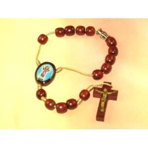 Blessed by Pope Benedict XVI Divino Nino Car Rosary Wood