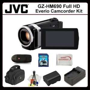 GZHM690 HD Camcorder, Extended Life Replacement Battery, Rapid Travel