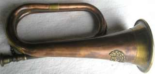 Solid Copper Brass Bugle CSA Confederate Civil War Army