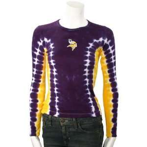 Minnesota Vikings Tie Dye Long Sleeve T shirt