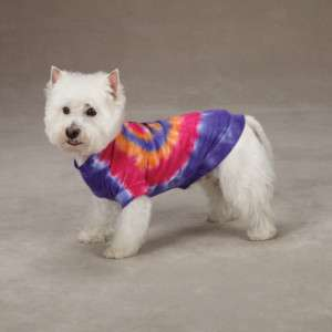 CASUAL CANINE BRIGHT TIE DYE PEACE SIGN DOG TEE / SHIRT