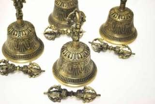 ) OLD BRASS TIBETAN BELL GHANTI DORJE SUBSTITUTE SINGING BOWL