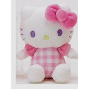 Hello Kitty Pink and White 6 Inch Plush