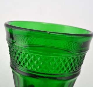 Lot 5 Viking Crystal Mt. Vernon Green Emerald Green Water Goblets
