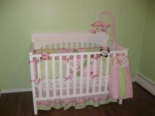 NEW KIDSLINE BELLA 6P CRIB BEDDING SET FLORAL PINK GIRL FLOWERS INFANT