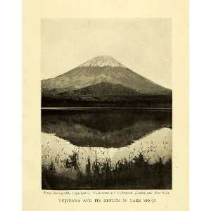 Print Fujuyama Mount Fuji Sama Japan Lake Shoji Reflection Volcano