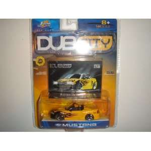 : 2003 Jada Dub City 1:64 Scale Ford Mustang Convertible Yellow/Black