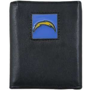 NFL San Diego Chargers Black Genuine Leather Executive Tri