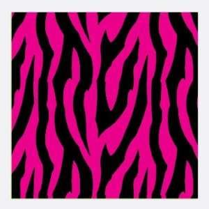 ZEBRA STRIPES PATTERN Pink and Black Craft Vinyl Decal Sheets