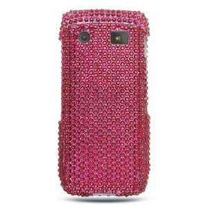 BlackBerry Pearl 9100 Cell Phone Hot Pink Full Diamond Crystals Bling