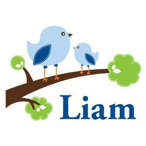 Personalized Happy Birds Wall Decal Baby