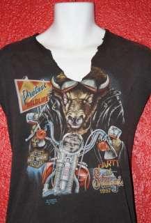 vtg HARLEY DAVIDSON 3D EMBLEM t shirt 1992 sturgis RARE sleeveless