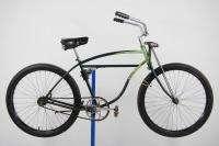 1950 Schwinn Panther rat rod bicycle green balloon tire bike springer
