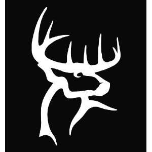 Buck Commander Deer Vinyl Die Cut Decal Sticker 6.75 White