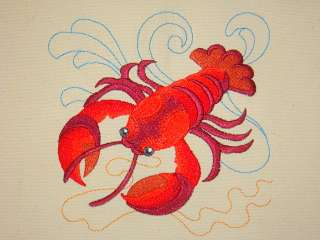 Lobster Under The Sea Embroidered Tote Bag