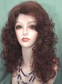 Soft Loose Curls PRETTY GIRL Wig #33 Dark Auburn