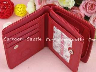 Hello Kitty Two Folded Mini Wallet Card Holder Red