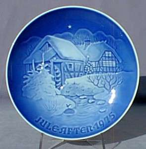 BING & GRONDAHL 1975 Christmas Plate B&G Water Mill