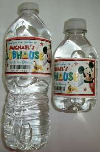 20 MICKEY MOUSE CLUBHOUSE Birthday Water Bottle Labels   Glossy
