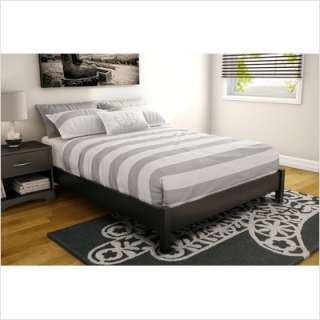 South Shore Step One Full Platform Bed in Pure Black 3070204
