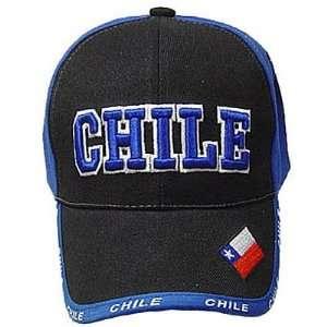 BLUE BLACK BASEBALL CAP HAT EMBROIDERED FLAG NEW
