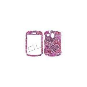 Bling HOT Pink RED Hearts Valentine Design: Cell Phones & Accessories