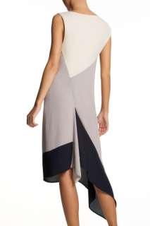 BCBG RUNWAY FROST COLOR BLOCKED ASYMMETRIC DRESS IMS6K720 $268 SZ.XS