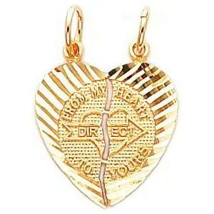 14K Gold From My Heart Breakable Love Charm Jewelry