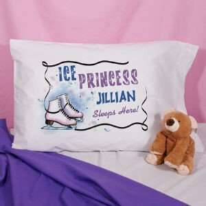 Personalized Ice Skating Pillowcase Home & Kitchen