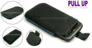 Black Pull Up Slide ( Blueline Totem Leather ) Case Pouch Cover For
