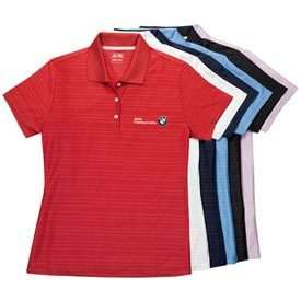 BMW Ladies ClimaCool Textured Polo
