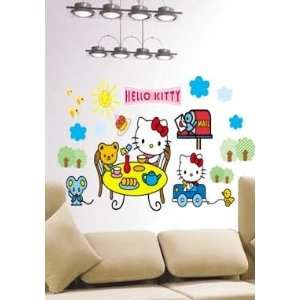 Large Hello Kitty Wall Sticker Decal for Baby Nursery Kids Room Baby