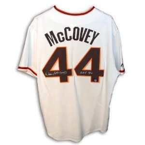 Autographed Willie McCovey San Francisco Giants Cream Colored Majestic