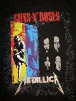 Vintage Concert T Shirt GUNS ROSES METALLICA 92NOT WORN