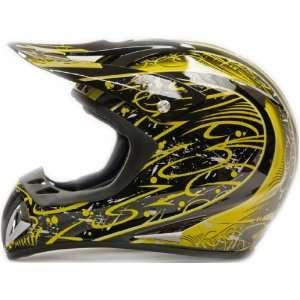 Adult Motocross Helmet ATV Dirt Bike or Motorcycle Yellow