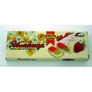 Bulgarian Strawberry Coconut Sweet Lokum   Middle Eastern Delight