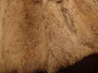 Vtg Opera Womens Super Soft Warm Rabbit Fur Rockabilly Belted Jacket