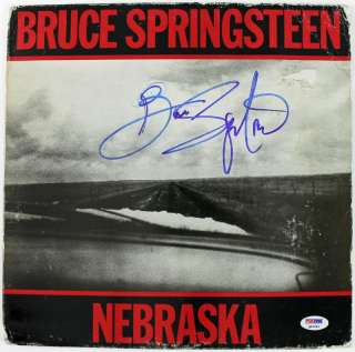 BRUCE SPRINGSTEEN NEBRASKA SIGNED ALBUM COVER PSA/DNA #Q02546