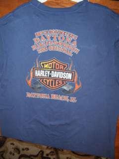 Bruce Rossmeyer Harley Davidson Daytona 2009 T Shirt XL