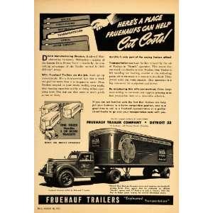 Ad Fruehauf Aerovan Trailer Truck Semi Tractors   Original Print Ad