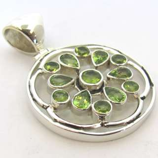 NATURAL PERIDOT GEMSTONE 925 STERLING SILVER PENDANT JEWELRY CHRISTMAS