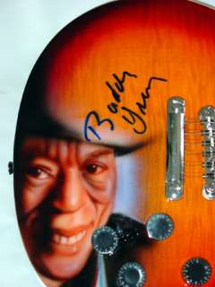 Buddy Guy Autographed Signed 12 String Guitar &Flawless Proof PS UACC