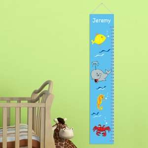 Boy Girl Height Chart Wall Art Canvas, Child Room Decorations