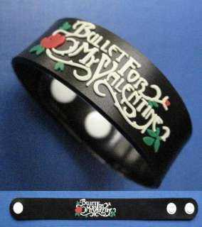 BULLET FOR MY VALENTINE RUBBER WRISTBAND BRACELET