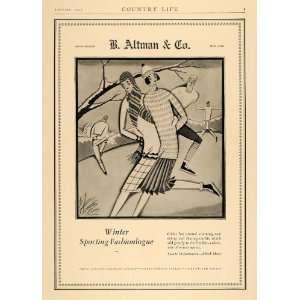 1927 Ad B Altman Callot Sporting Fashion Gaul Art Deco