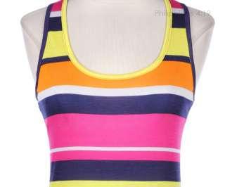 JUNIOR PLUS SIZE] Multi Color Stripes Sleeveless Tank Maxi Dress Long